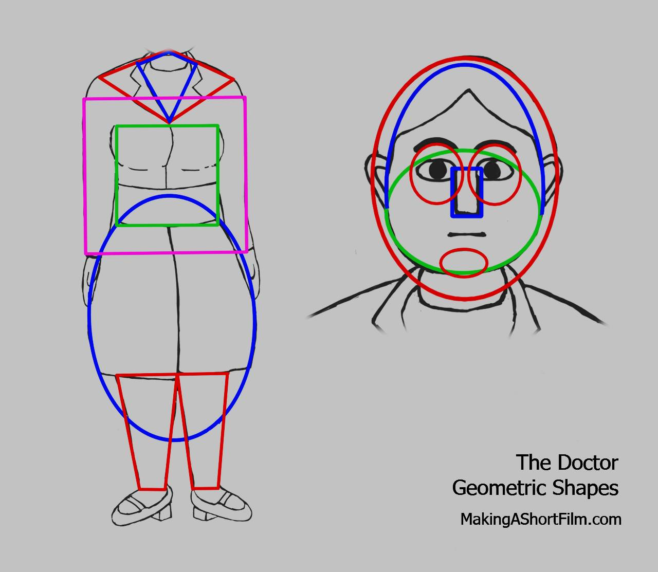 The geometric shapes of the Doctor