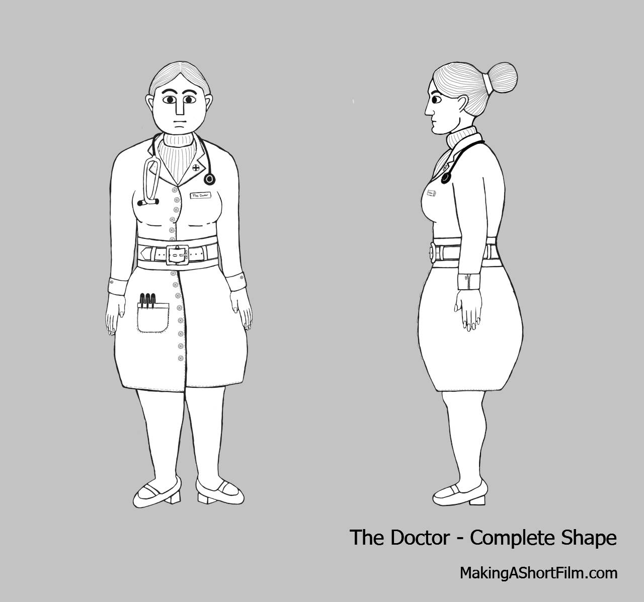 The completed shape of the Doctor