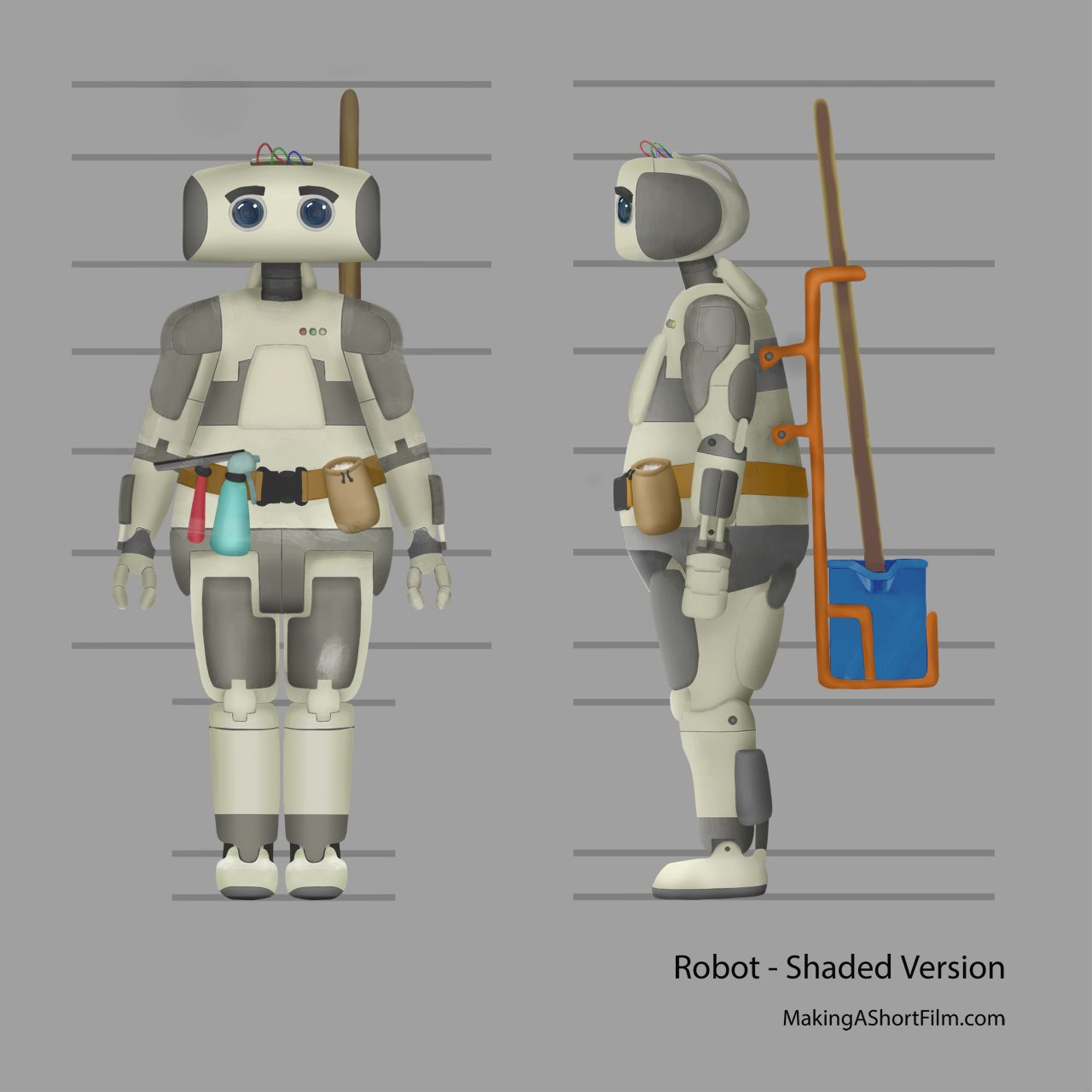 The completed Robot concept art