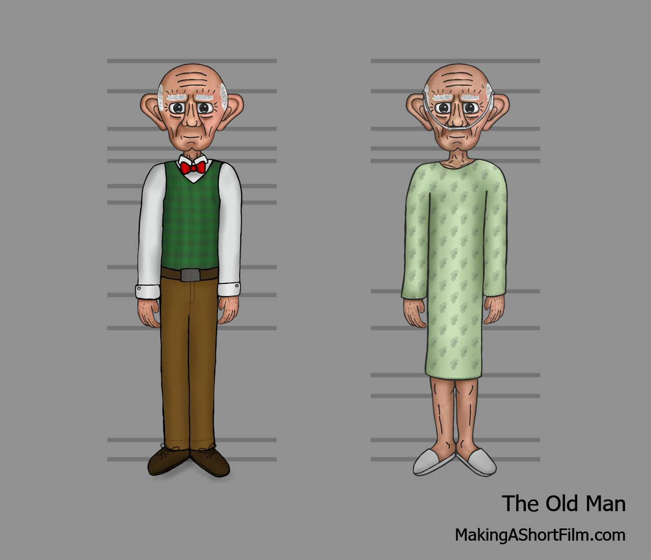 A comparison between the Old Man in the dream and in real life