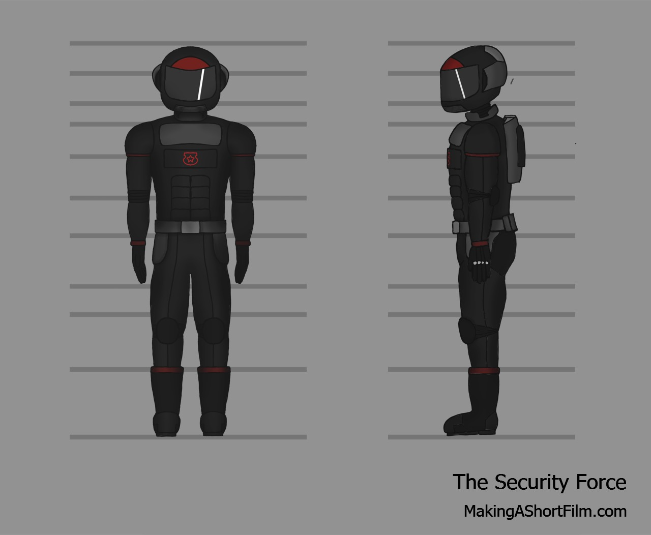 The completed Security Force concept art